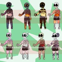 Skeleton Adoptables! [2/8 OPEN!] by Sinnamonroll-Adopts