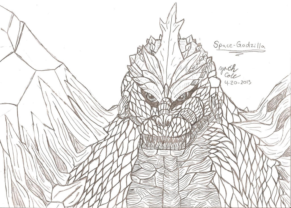Gallery Of By Critterzach Space Godzilla Coloring Page With