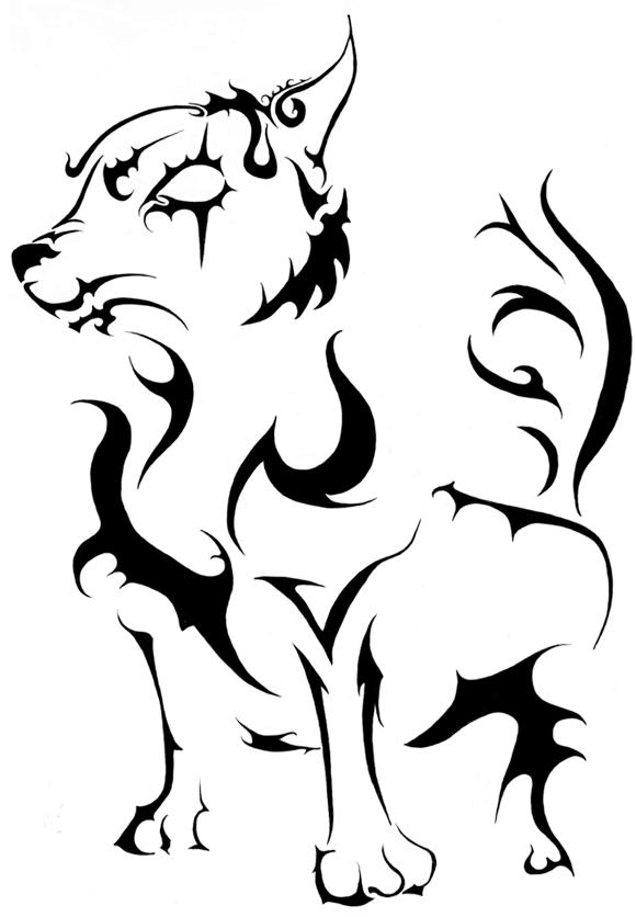 Tribal Dog by St-Luciferis