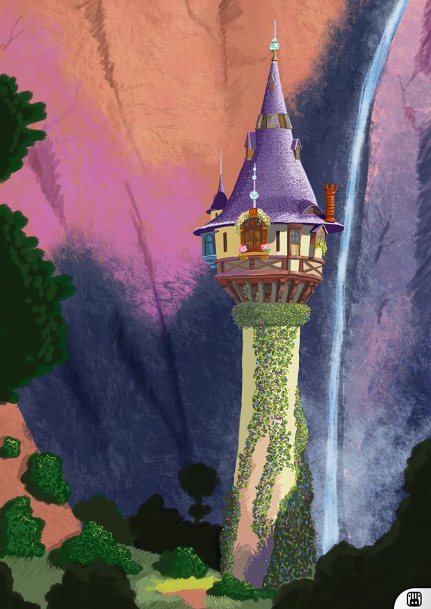 Rapunzel 39 s tower by blackramu on deviantart - Tangled tower wallpaper ...