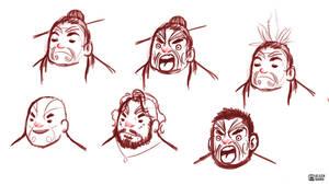 Maori Men Sketches