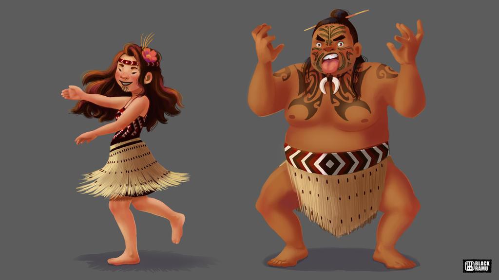 Maori Characters by BlackRamu