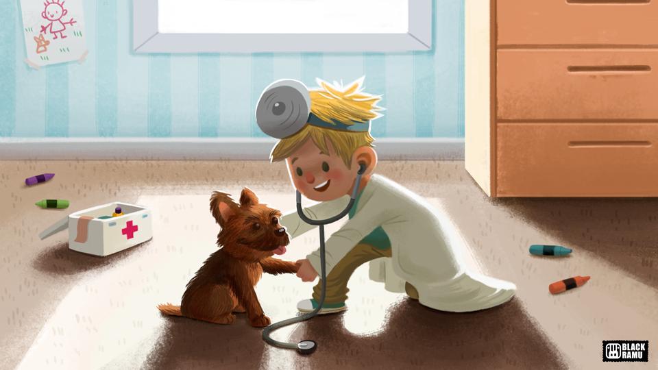 Children illustration III by BlackRamu