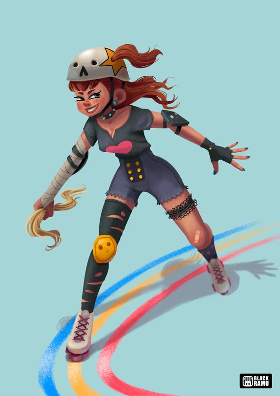 Roller Derby by BlackRamu