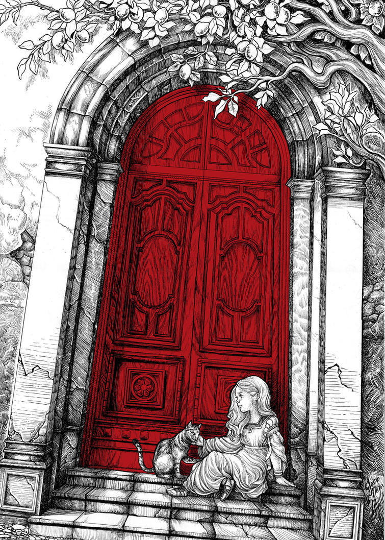 The House With The Red Door By Watersorcerer On Deviantart