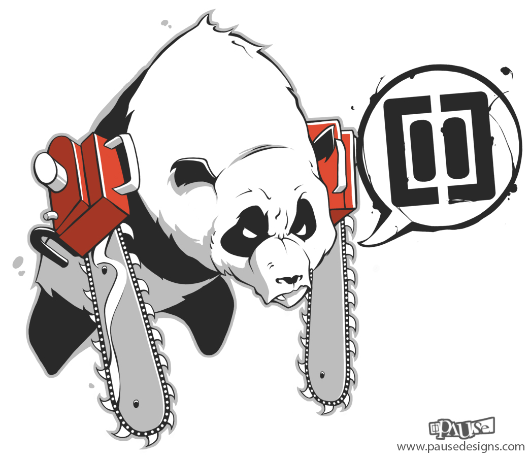 Chainsaw Panda By Pause Designs