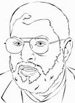 Dr. Abdul-Aziz Rantisi Lineart