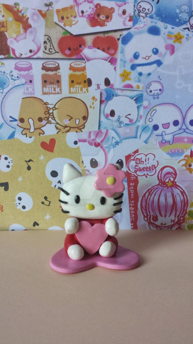 figurine chat hello en pate fimo by homemadejewellery on deviantart