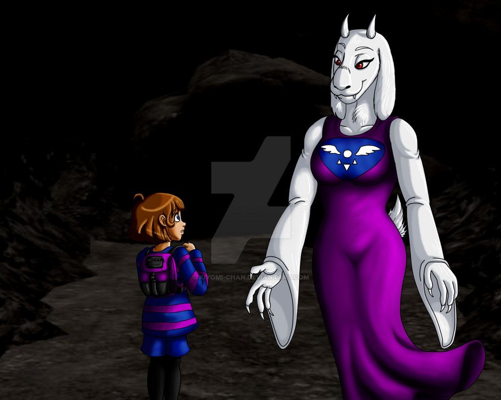 Toriel And Frisk First Meeting By Kiyomi-Chan On DeviantArt