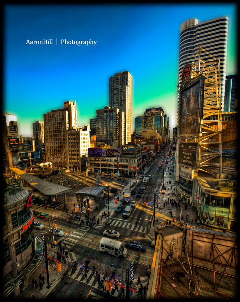 Dundas Square HDR Pano by ArH2oo5