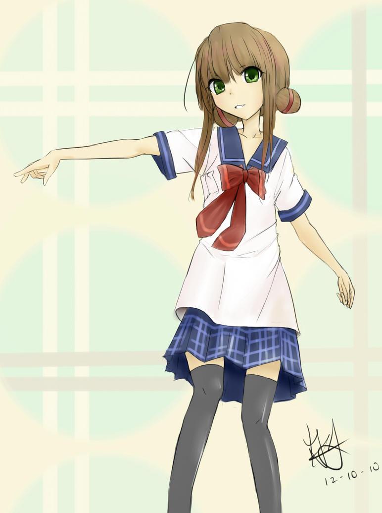 Schoolgirl by scwibbles