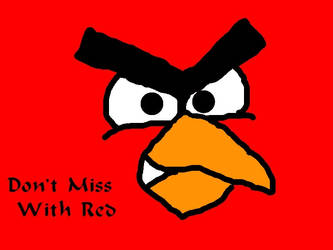 angry birds: red bird by JJflores69