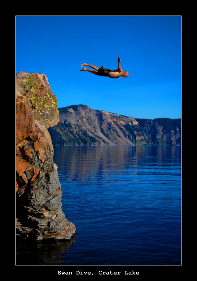 Swan Dive, Crater Lake by samtihen
