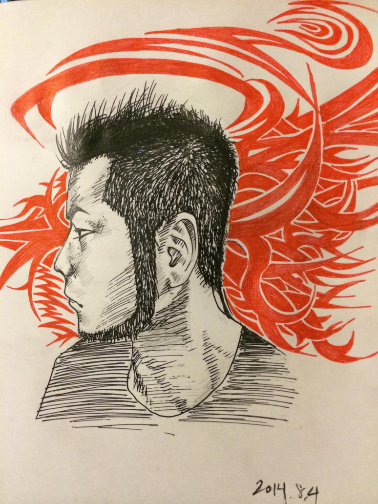 self portrait 8/4/2014 by toge-NYC