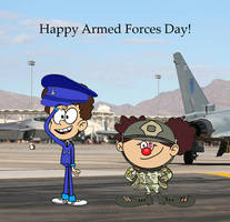 Benny And Giggles In the armed forces by Ronboy793