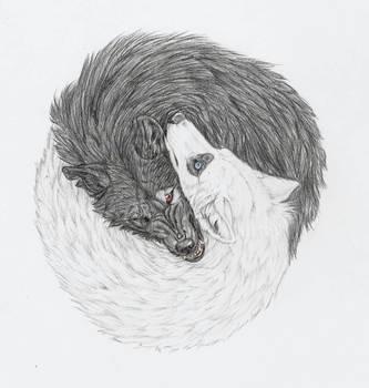 'Yin and Yang Wolves'