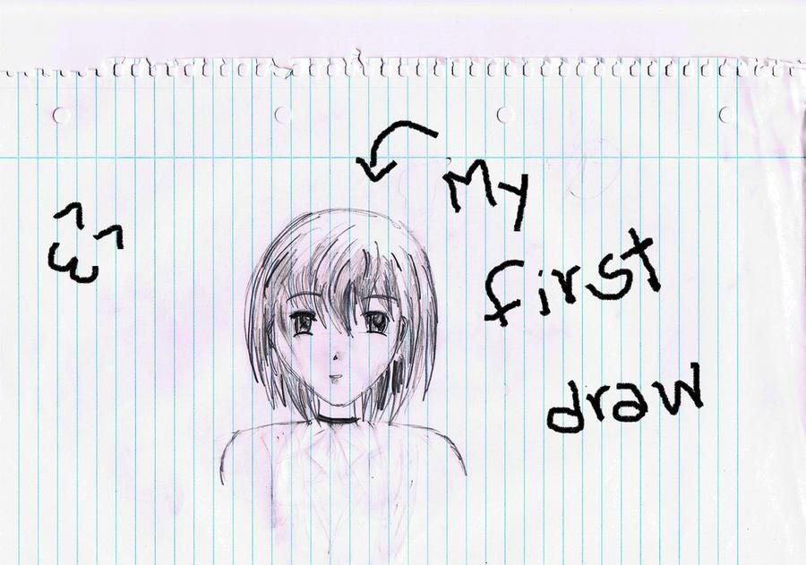 My First Anime Draw By Kokoro1212
