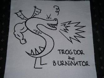 trogdor cross stitch by eevilkat