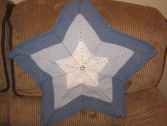 Blue Star-shaped Blanket
