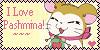 Hamtaro - Pashmina Fan Stamp by PurelyWhiteButterfly