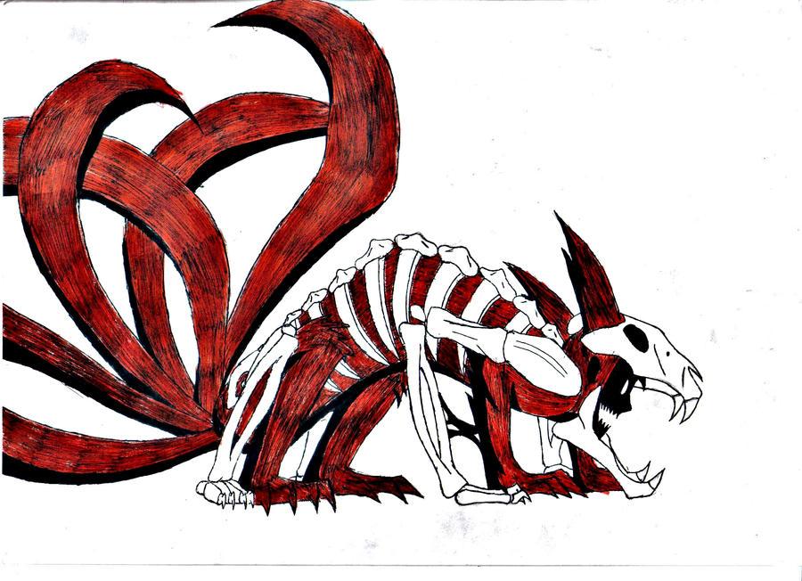 six tails kyuubi by DarkChildOfHell on DeviantArt