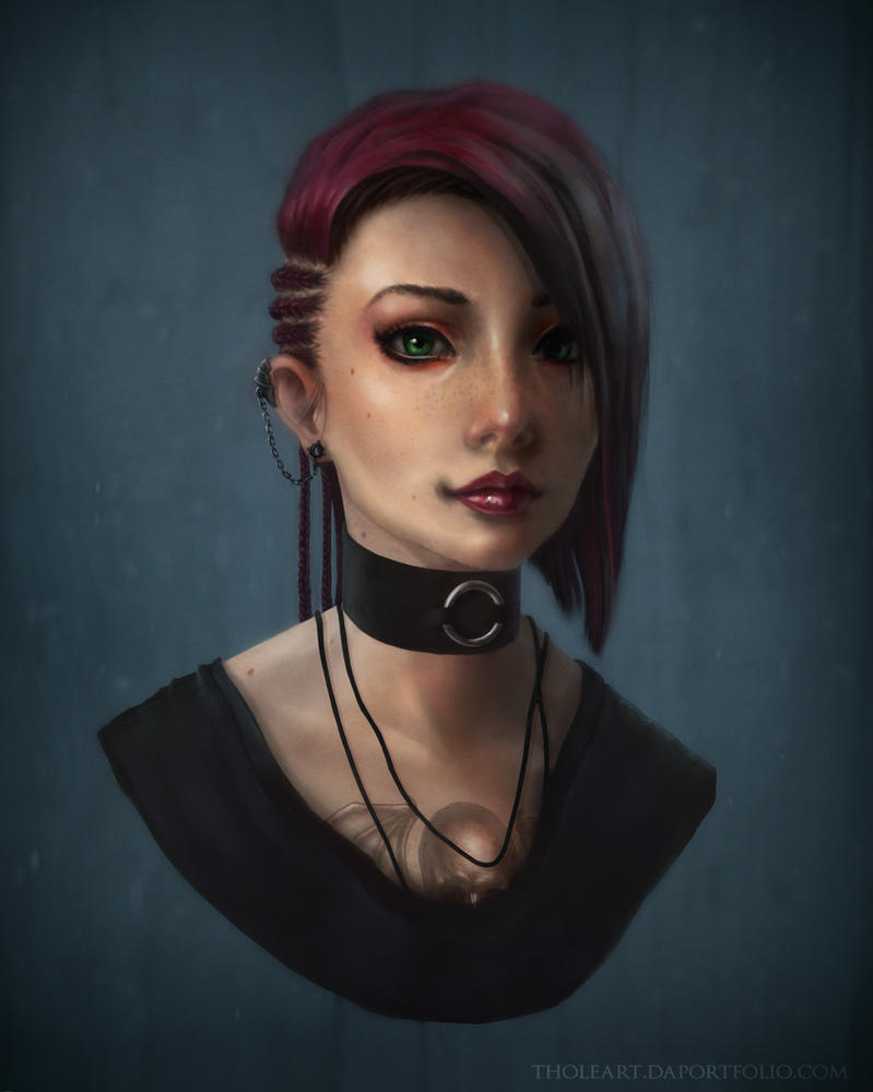 Punk Girl by RamenRamen