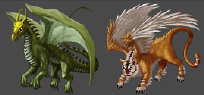 Dragon Sprites by RamenRamen