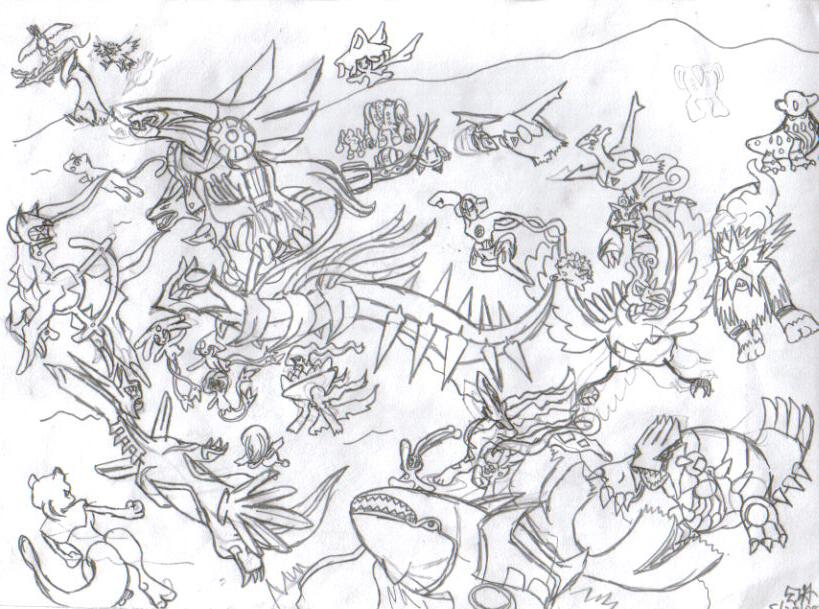 All legendary pokemon by axuidu on deviantart for All pokemon coloring pages