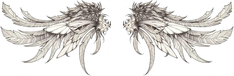 wing tattoo shoulder blades the image kid has it. Black Bedroom Furniture Sets. Home Design Ideas