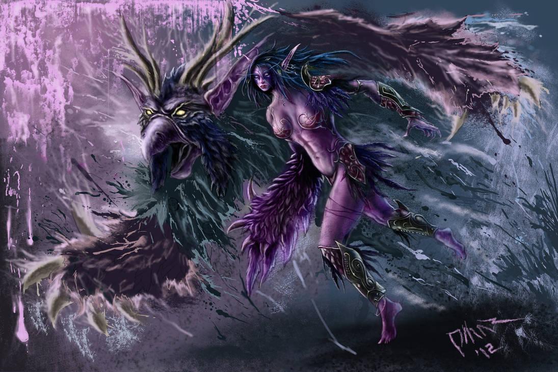 Word of Warcraft-Night Elf Moonkin by Omar-Atef