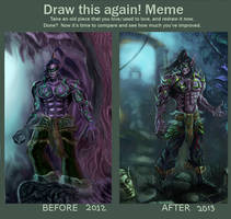 Draw This Again - Illidan Stormrage by Omar-Atef