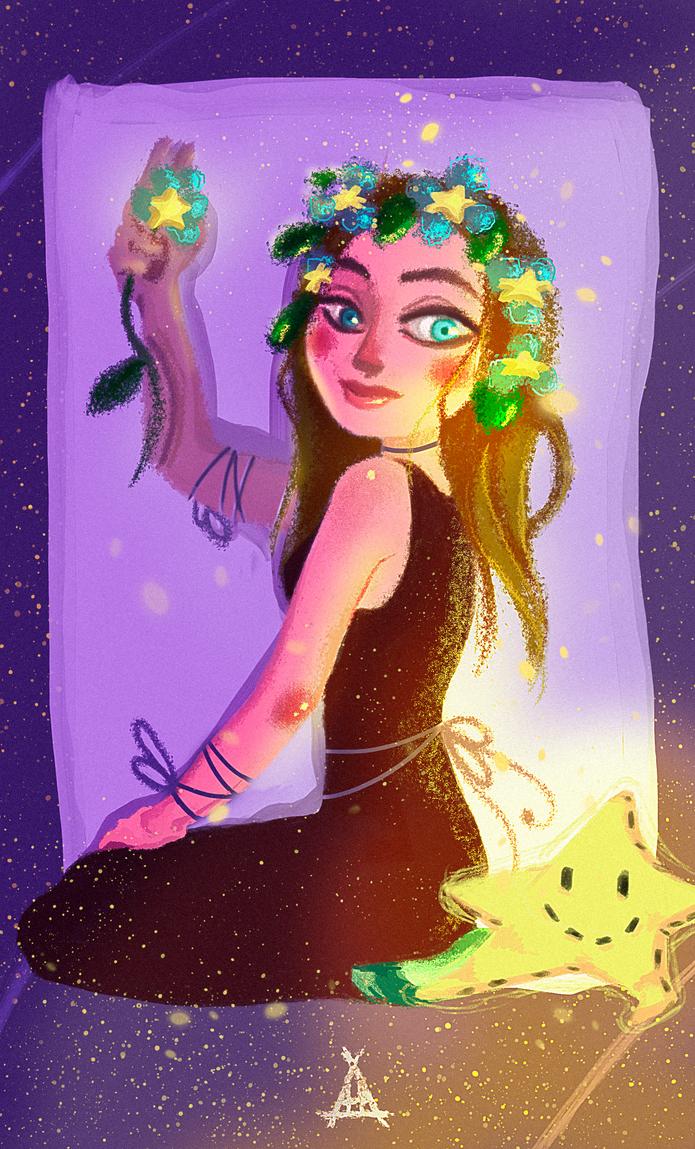 Starry Maiden by AH-Adonneniel