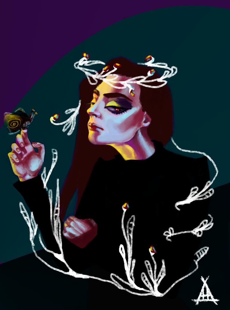 Neon flower by AH-Adonneniel