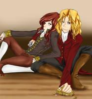 Armand and Lestat