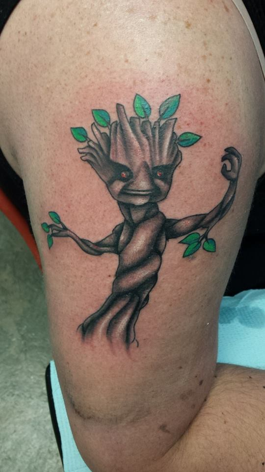 The finished Baby Groot, by TheSortedBead