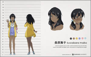 KU: maiko character animation sheet by Betachan
