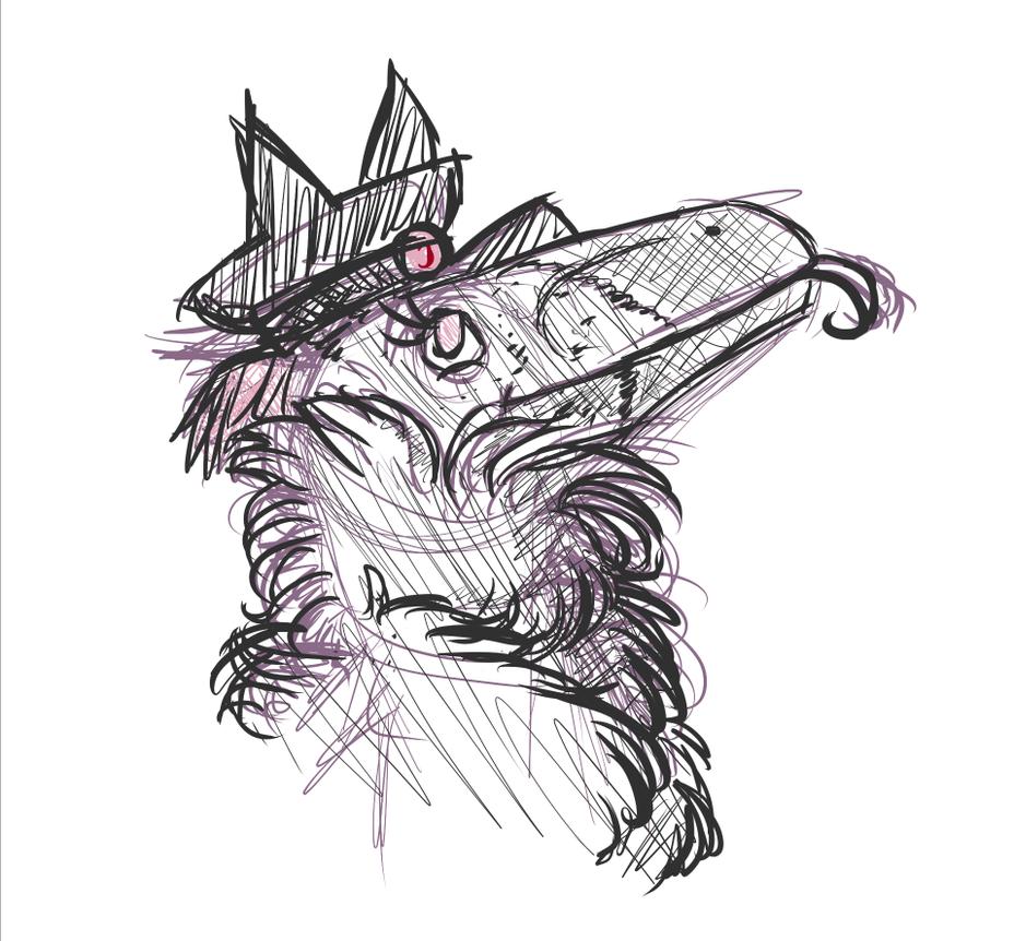 Doodle: Catbird by KiashiChan