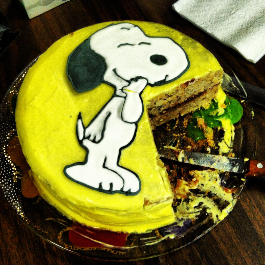 Snoopy Cake by CarolinesEcho on DeviantArt