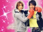 Punch and hug_Maru X Ueda
