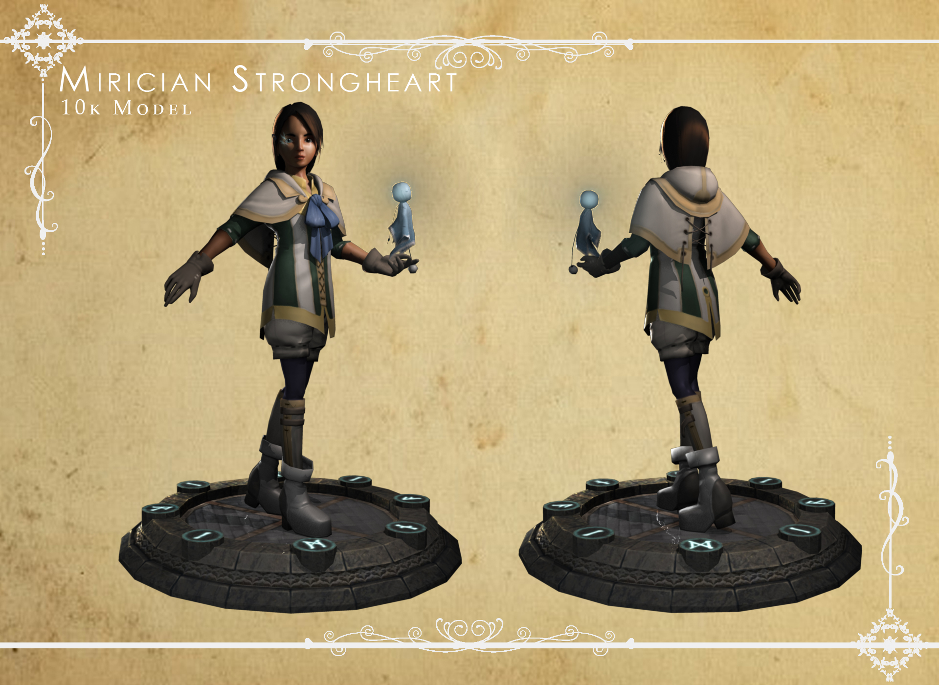 Mirician Strongheart Character Model by Feylore