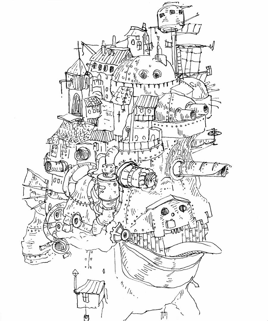 Howls moving castle by Hyperfisk on DeviantArt