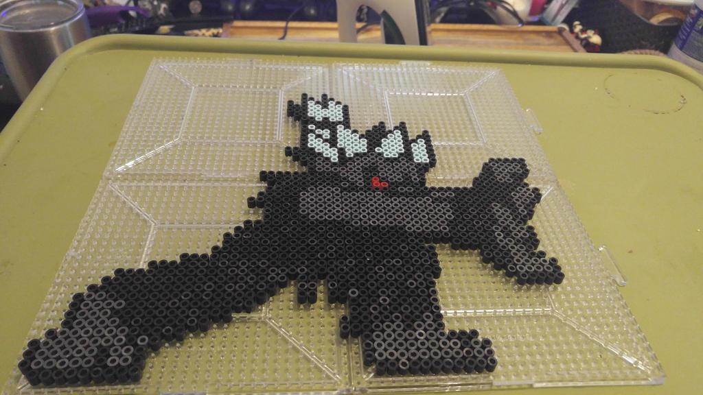 Oni-Recolor custom Beadsprite of MotM Akuma. by AnimeFur