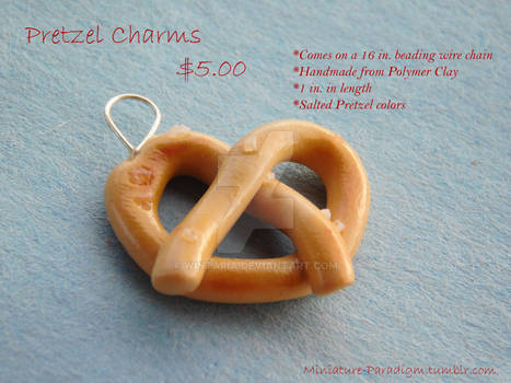 Salted Pretzel Necklace