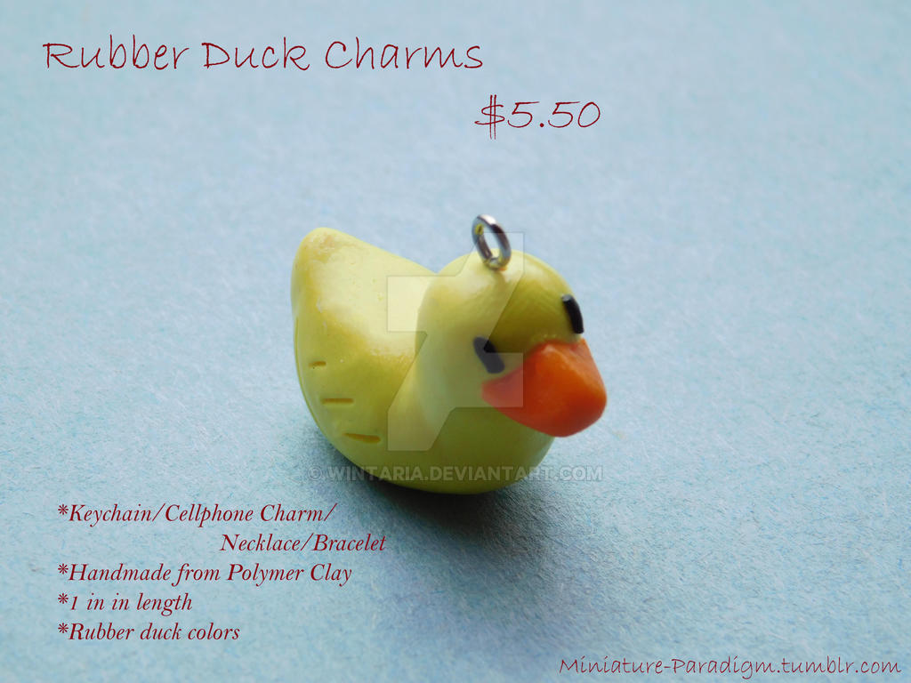 Rubber Duck Charms by Wintaria