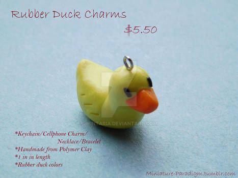 Rubber Duck Charms