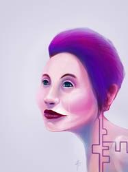 Purple Face by tousti