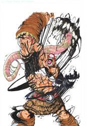 Venom takes Balto by MeaT-Artworx