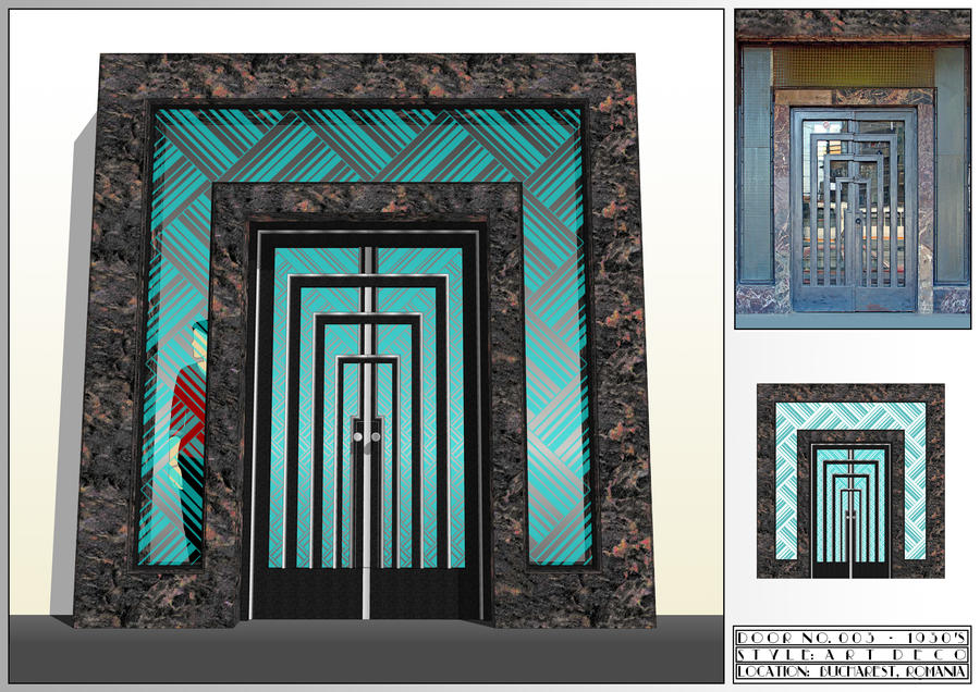 Art Deco - Door No.3 by lumilanous ... & Art Deco - Door No.3 by lumilanous on DeviantArt