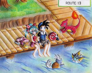 Pokemon ROUTE 13 by Akira-Hikari