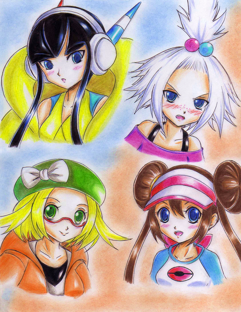 .: Pokemon BW2 girls :. by Akira-Hikari